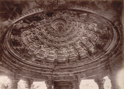 Ceiling Carvings of a Jain Temple in Chittore Fort
